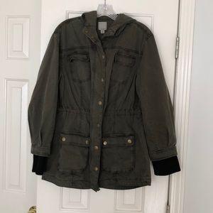 Halogen olive green Utility Jacket